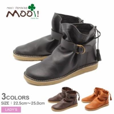 モーイ フェミニン ショートブーツ レディース 本革オイルレザー ショートブーツ ブラック 黒 ブラウン MOOI! FEMININE MF357 靴 本革
