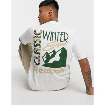 リーボック メンズ シャツ トップス Reebok Classics T-shirt with winter back print in white