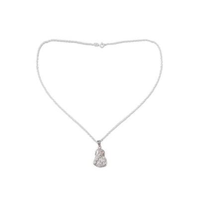 "NOVICA .925 Sterling Silver Pendant Necklace, 18"", Sai Baba Blessing'好評販売中"