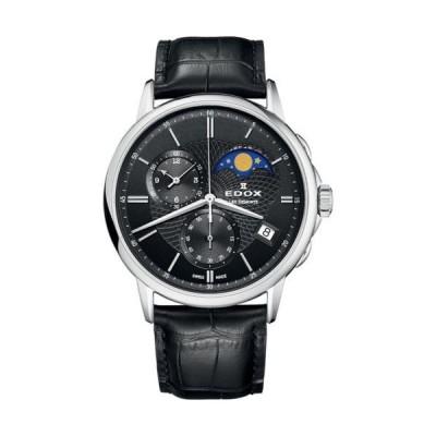 腕時計 エドックス メンズ Edox 01651 3 NIN Men's Les Bemonts Black Quartz Watch