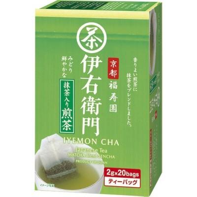 宇治の露製茶 伊右衛門抹茶入り煎茶ティーバッグ 1箱(20バッグ入)