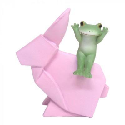 Copeau(コポー) 折り紙ウサギとカエル  72672  インテリア小物 置物【同梱不可】[▲][AB]