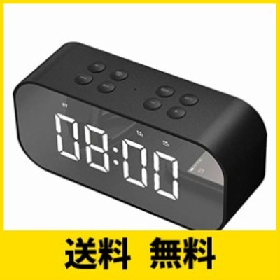 OBEST クロックラジオ デジタル アラーム 目ざまし時計 デジタル Bluetooth 5.0 LED 多機能 音楽放送 三段輝度調整 AUX/TFカード搭載