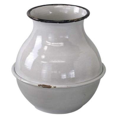 鉢、プランターカバー関連 SPICE プロヴァンスブリキ 壺型ポット グレー IVDN1250GY