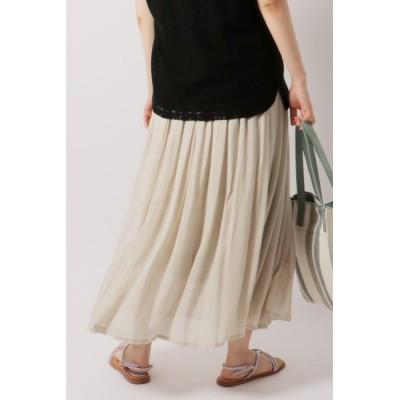 【イッカ/ikka】 楊柳ベルト付きスカート