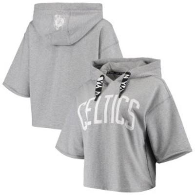 ダナ キャラン ニューヨーク レディース パーカー・スウェット アウター Boston Celtics DKNY Sport Women's Emma Cropped Pullover Hood