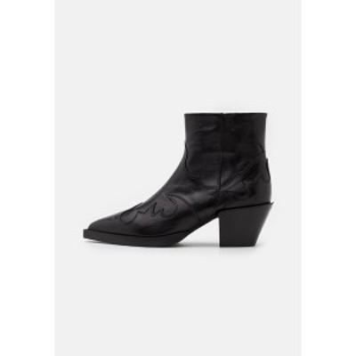 ザ・クープルス レディース ブーツ&レインブーツ シューズ BOTTINES EN AVEC DECOUPES - Classic ankle boots - black black