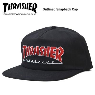 THRASHER スラッシャー OUTLINED SNAPBACK CAP キャップ 5パネルキャップ スナップバックキャップ 帽子