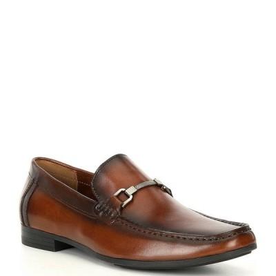 スティーブ マデン メンズ ドレスシューズ シューズ Men's Privacy Leather Bit Detail Loafers Cognac