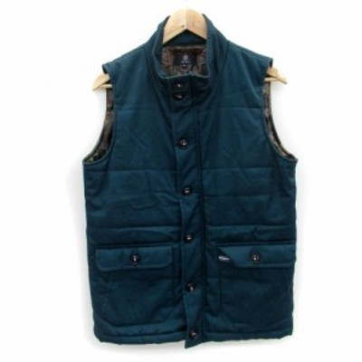 【中古】シャギー SHAGGY ジャケット ベスト ミドル丈 スタンドカラー ジップアップ L ブルー 青 /MS2 メンズ