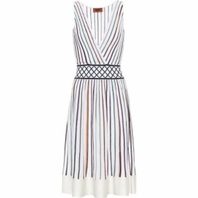 ミッソーニ Missoni レディース ワンピース ワンピース・ドレス Striped stretch-silk dress White