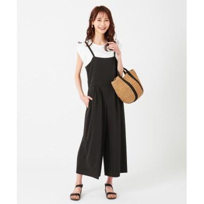 【エニィスィス】 フェミニンワイド サロペット レディース ブラック 2 any SiS