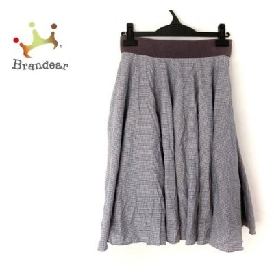 ザ ヴァージニア スカート サイズ38 M レディース 美品 白×黒×ライトグレー チェック柄   スペシャル特価 20200701