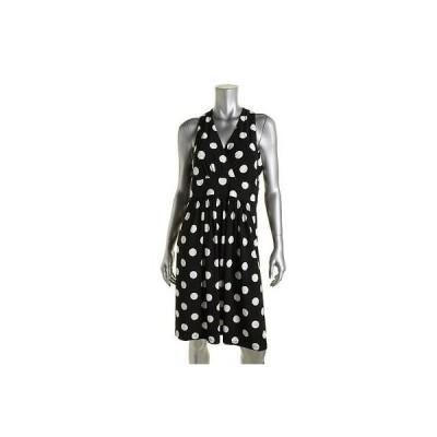 ドレス 女性  アメリカンリビング American Living 9526 レディース ネイビー ノースリーブ Knee-Length カジュアル ドレス 12