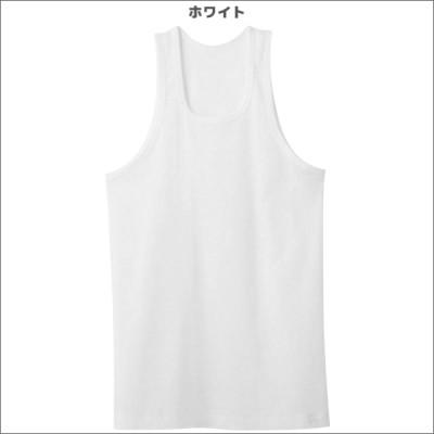 シーズン涼感平台 冷感鹿の子 ランニングシャツ ノースリーブ タンクトップ 2枚組 Mサイズ Lサイズ グンゼ GUNZE 綿100% 日本製[RB12202](ホワイト×L)
