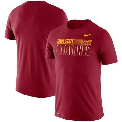 """ナイキ メンズ Tシャツ """"Iowa State Cyclones"""" Nike Team Issue Legend Performance T-Shirt - Cardinal"""