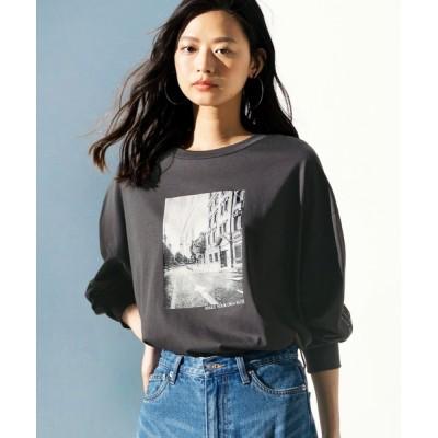tシャツ Tシャツ 《インスタグラマーてらさん着用》フォトプリントロングTシャツ