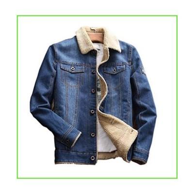 chouyatou Men's Winter Thermal Sherpa Lined Distressed Denim Trucker Jacket (Small, Blue)【並行輸入】【新品】