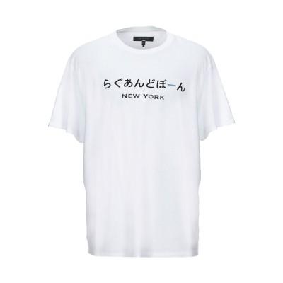 ラグアンドボーン RAG & BONE T シャツ ホワイト XXL コットン 100% T シャツ