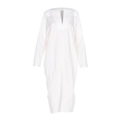 リック オウエンス RICK OWENS 7分丈ワンピース・ドレス アイボリー 40 コットン 100% 7分丈ワンピース・ドレス