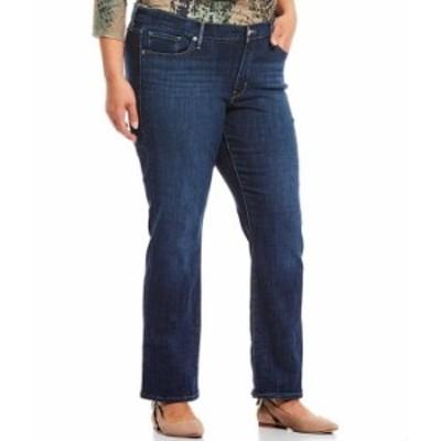 リーバイス レディース デニムパンツ ボトムス Levi'sR Plus Size 414 Classic Straight Leg Jeans Lapis Dark Horse