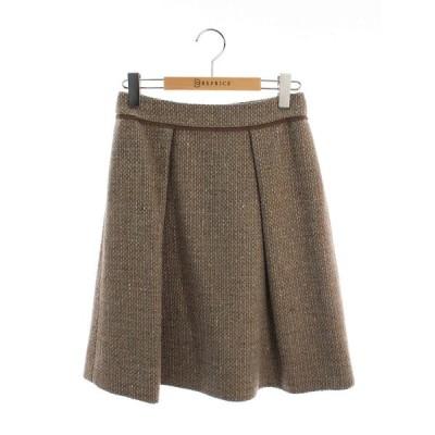 フォクシーブティック スカート 38775 Tweed Trapeze 総柄 38
