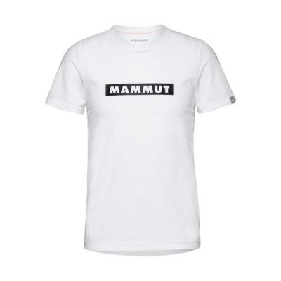 マムート(MAMMUT) メンズ ロゴ プリント Tシャツ QD Logo Print T-Shirt AF ホワイト プリント2 1017-02011 00472 アウトドアウェア カジュアル 半袖 トップス