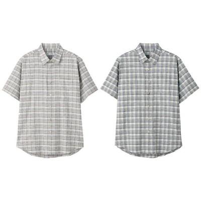 しじらワンタッチテープ半袖シャツ 97476 ケアファッション