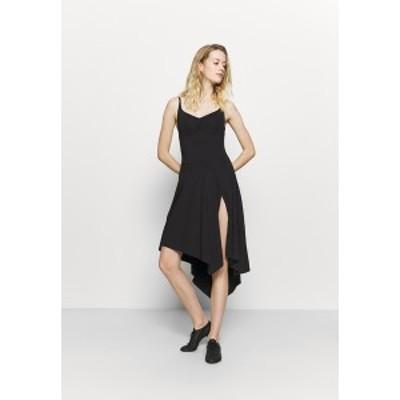 ブロック レディース ワンピース トップス ASYMMETRICAL HEM TANK DRESS - Sports dress - black black