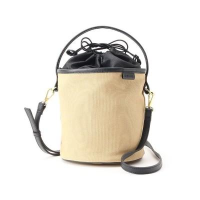 バッグ ハンドバッグ 【Marisol6月号掲載】合皮×帆布バケツバッグ