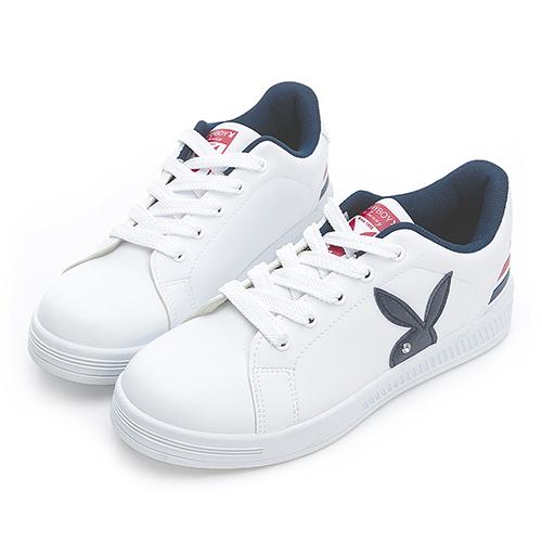 PLAYBOY New Classic 條紋魅力 兔兔小白鞋-藍紅(Y7220)