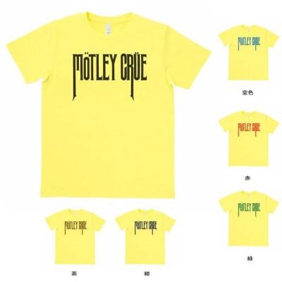 バンド ロック Tシャツ MOTLEY CRUE イエロー