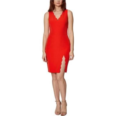 ベッツィ ジョンソン Betsey Johnson レディース ワンピース ミドル丈 ワンピース・ドレス Scallop Midi Dress Poppy Red