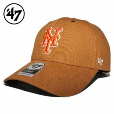 47ブランド カーハート コラボ ストラップバックキャップ 帽子 メンズ レディース 47BRAND CARHARTT MLB ニューヨーク メッツ フリーサイ