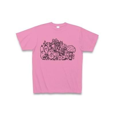 がんばれ野菜!! Tシャツ (ピンク)