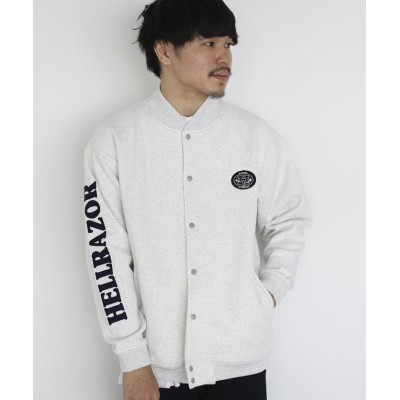 【ビームス メン】 HELLRAZOR / SWEAT SNAP JACKET メンズ GREY L BEAMS MEN