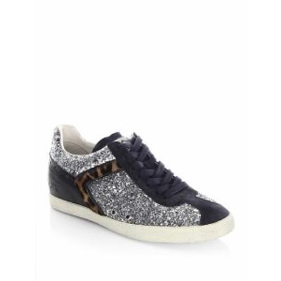アッシュ レディース シューズ スニーカー Everest Glitter &amp Calf Hair Sneakers