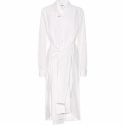 ロエベ Loewe レディース ワンピース シャツワンピース ワンピース・ドレス Cotton-blend shirt dress White