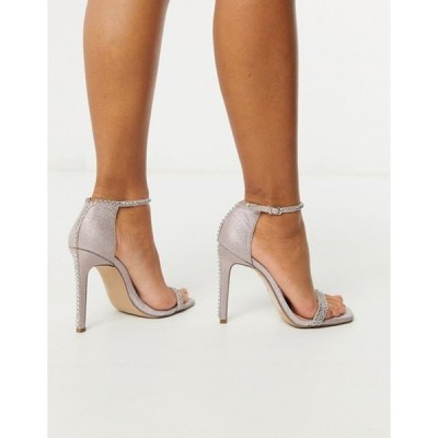 スティーブ マデン レディース ヒール シューズ Steve Madden Collette strappy heeled sandal in blush glitter