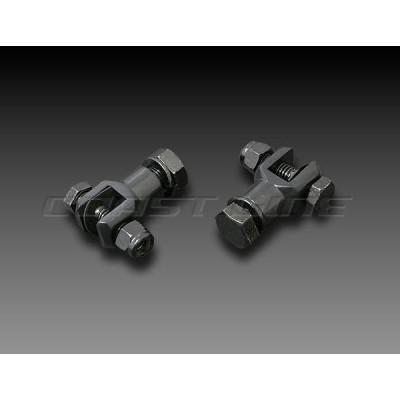 002960  フットペグクリップキット1/2-20ブラック黒/ハーレー汎用