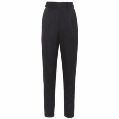 イヴ サンローラン Saint Laurent レディース ボトムス・パンツ High-rise virgin wool twill pants Noir