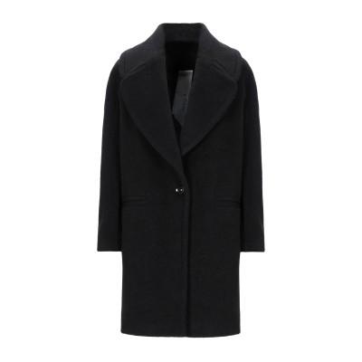 ANNIE P. コート ブラック 40 バージンウール 70% / ナイロン 20% / 合成繊維 10% コート