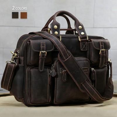 ビジネスバッグメンズレディースショルダーバッグ斜めがけバッグブリーフケースメッセンジャーバッグ鞄牛革本革大容量通勤通学軽量