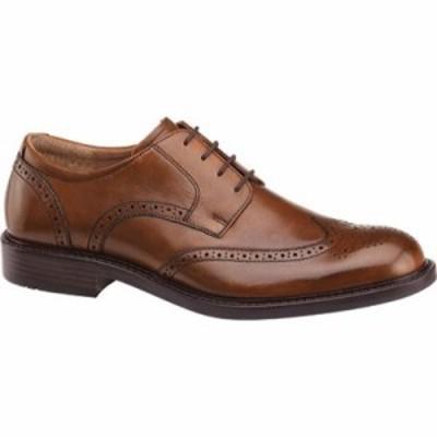 ジョンストン&マーフィー 革靴・ビジネスシューズ Tabor Wing Tip Derby Tan Calfskin