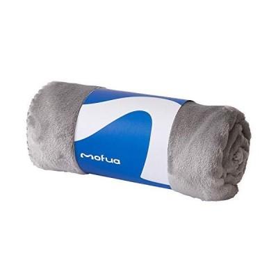 mofua (モフア) ひざ掛け 毛布 70×100cm グレー エアコン対策 オールシーズン 夏 ブランケット モフモフ プレミアムマイクロファイバ