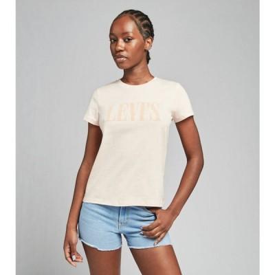 リーバイス Levis レディース Tシャツ ロゴTシャツ トップス The Perfect Tee Serif Logo Tee Scallop Shell