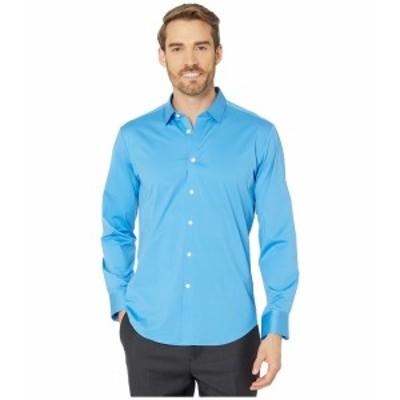 ブガッチ メンズ シャツ トップス Zanobi Long Sleeve Button-Down with Bonded Seams - French Placket Classic Blue