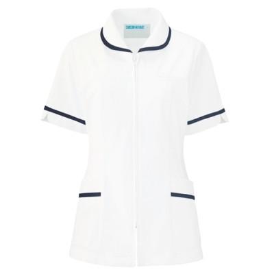 101 KAZEN レディスジャケット半袖 ナースウェア・白衣・介護ウェア
