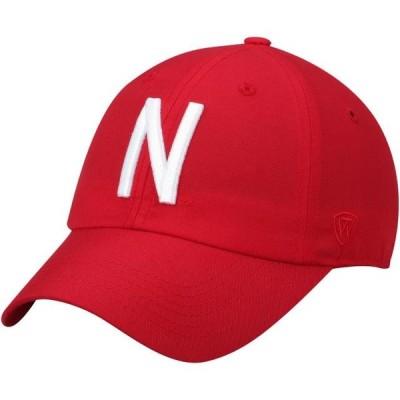 ユニセックス スポーツリーグ アメリカ大学スポーツ Nebraska Cornhuskers Top of the World Staple Adjustable Hat - Scarlet - OSFA