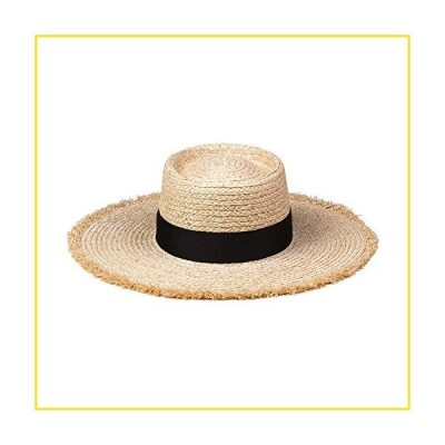 新品Lack of Color Women's Ventura Raffia Straw Wide-Brimmed Boater Hat (Natural, Medium (57cm))並行輸入品